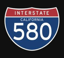 Interstate Sign 580, California, USA Baby Tee