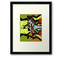 Female Space Warrior Framed Print