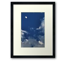 The spring clouds Framed Print
