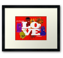 WE WISH YOU LOVE ALWAYS! Framed Print