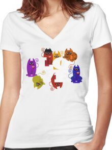 WE WISH YOU LOVE ALWAYS! Women's Fitted V-Neck T-Shirt