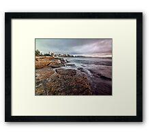 On the Rocks - Cronulla NSW Framed Print