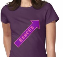 FIGHTER RESCUE - Sassy Purple Womens Fitted T-Shirt