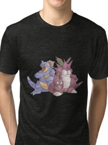 Beech Collection - Nidoking and Nidoqueen Tri-blend T-Shirt