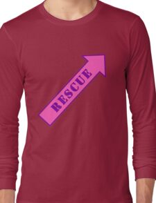 FIGHTER RESCUE - Sassy Pink Long Sleeve T-Shirt