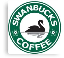 Swanbucks Coffee Canvas Print