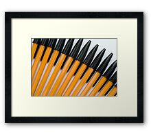 Yellow and Black Biros Wall Art Framed Print