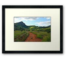 red dirt, green grass.  mlilwane wildlife sanctuary Framed Print