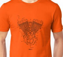 Harley Davidson Blockhead engine (patented) T-shirt etc Unisex T-Shirt