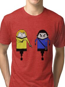 Kirk and Spock Tri-blend T-Shirt