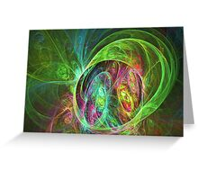 Face of energy Greeting Card