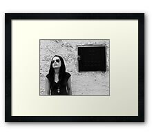 I lock away my longings in a dark and secret place Framed Print