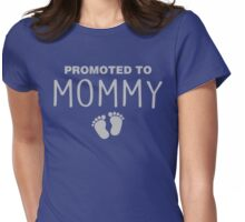 Promoted To Mommy Womens Fitted T-Shirt