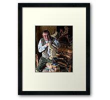 Wood Worker Framed Print