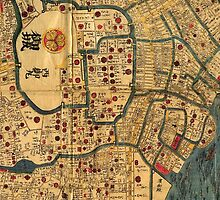 Old Map of Tokyo by Ommik