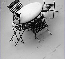 Snowy Table And Chairs by Jazzdenski