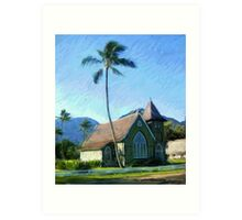 Kauai Church Art Print