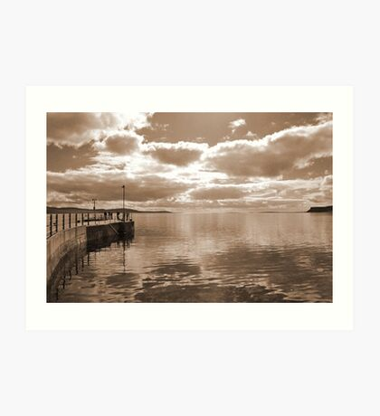 Waiting for the ferry, Moaness, Hoy Art Print