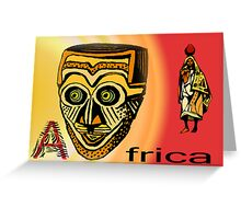Africa Mask Greeting Card