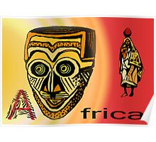 Africa Mask Poster