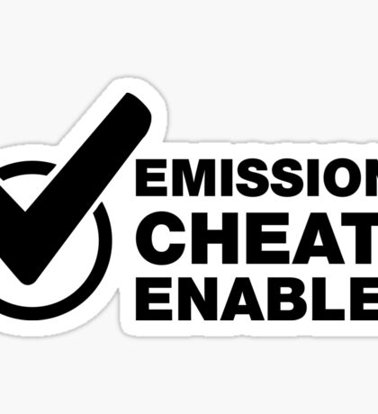 Emissions cheat enabled. Funny VW Sticker