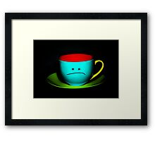 Funny Wall Art - Peeved Colourful Teacup Framed Print