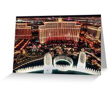 The Bellagio Fountains Greeting Card