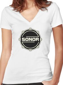 Sonor Drums Women's Fitted V-Neck T-Shirt