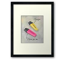 Love highlighted Framed Print