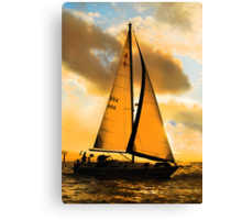 Almost Gold Silhouette Canvas Print
