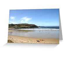 A Chilly Picnic - Farr Bay, Sutherland Greeting Card
