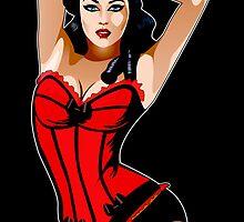 Burlesque Girl by Debbie Jew