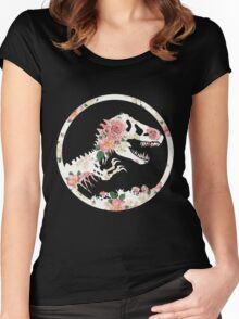 Jurassic Floral Women's Fitted Scoop T-Shirt