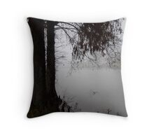 Fog and Cypress Throw Pillow