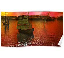 Flying Dutchman Pursuit in Bermuda Triangle panel 3 Poster