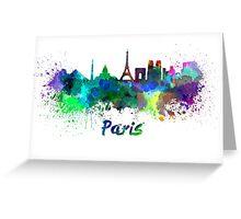 Paris skyline in watercolor Greeting Card