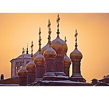 Kremlin Cathedral Domes Photographic Print