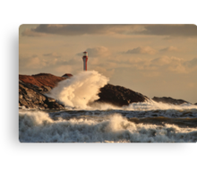 Wave Crashing at Cape Forchu Canvas Print