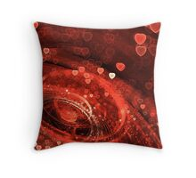 Valentine Hearts Background. Valentines Red Abstract Wallpaper. Backdrop Collage Throw Pillow