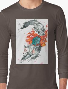 Watercolor Okami Long Sleeve T-Shirt