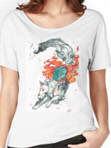 Watercolor Okami Women's Relaxed Fit T-Shirt