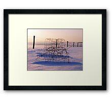 Winter Wire Framed Print