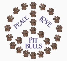 Peace, Love and Pit Bulls Kids Tee