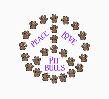 Peace, Love and Pit Bulls Unisex T-Shirt