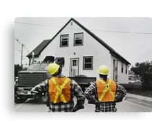 The Logistics of Moving a House Canvas Print