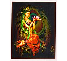 Kuan Yin And The Peacock Feather Photographic Print