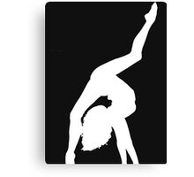 Hand stand(white) Canvas Print