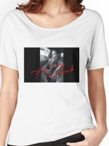 Warren Zevon - Enjoy Every Sandwich Women's Relaxed Fit T-Shirt