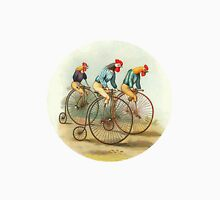Chickens and Roosters on Big Wheel Bikes Unisex T-Shirt
