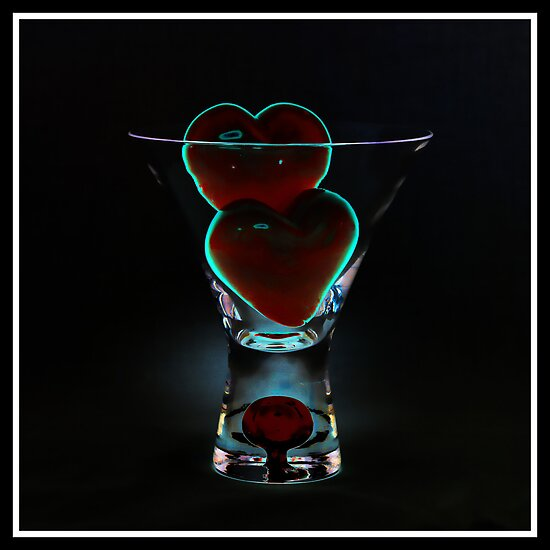 V Day - The Red Blob Glass - Week 5 by Wendi Donaldson Laird